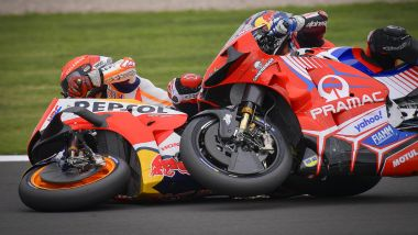 MotoGP Gran Bretagna 2021, Silverstone: Marc Marquez (Honda) e Jorge Martin (Ducati)