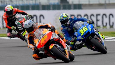 MotoGP Gran Bretagna 2021, Silverstone: Pol Espargarò (Honda) e Joan Mir (Suzuki)