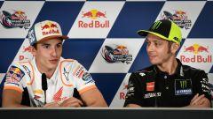 MotoGP Italia 2019, Marc Marquez (Honda) e Valentino Rossi (Yamaha)
