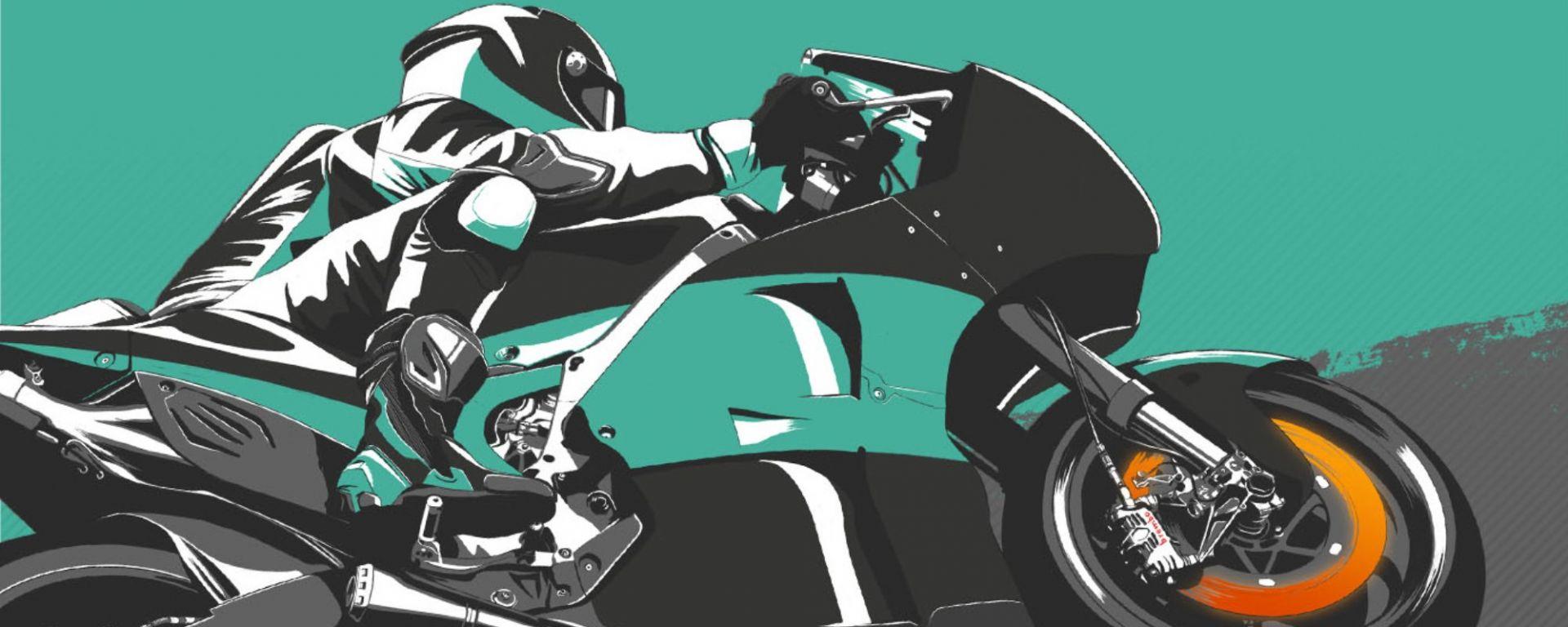 MotoGP Lunghezza frenata Yamaha Petronas by Brembo
