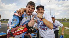 MotoGP Malesia 2019, Sepang: Marc Marquez (Honda) con il fratello Alex, neo iridato in Moto2