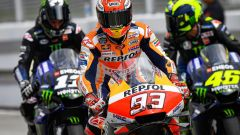 MotoGP Malesia 2019, Sepang: Maverick Vinales e Valentino Rossi (Yamaha), Marc Marquez (Honda)