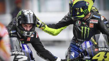 MotoGP Malesia 2019, Sepang: Maverick Vinales e Valentino Rossi (Yamaha)