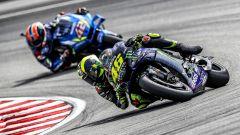 MotoGP Malesia 2019, Sepang: Valentino Rossi (Yamaha), Alex Rins (Suzuki)