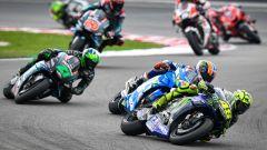 MotoGP Malesia 2019, Sepang: Valentino Rossi (Yamaha), seguito da Rins, Morbidelli, Quartararo, Zarco e Crutchlow