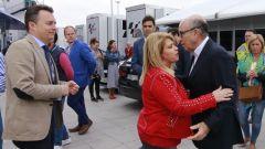 MotoGP: Mamen Sanchez, sindaco di Jerez, con Carmelo Ezpeleta (Dorna)