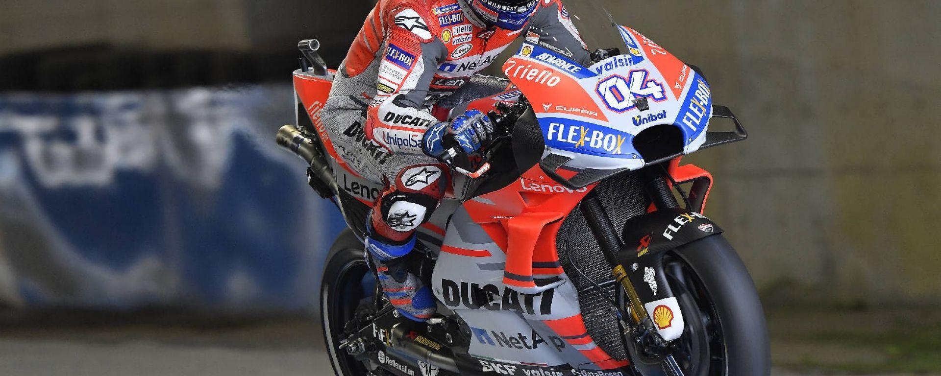 MotoGP Motegi 2018: Dovizioso in pole, Rossi nono