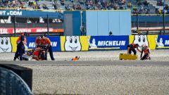 MotoGP Olanda 2019, FP1, la fotosequenza dell'incidente di Jorge Lorenzo (Honda)