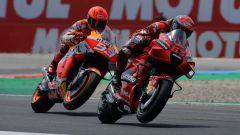 MotoGP Olanda 2021, Assen: Francesco Bagnaia (Ducati) e Marc Marquez (Honda)