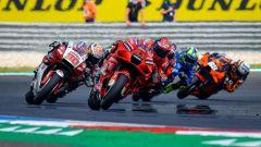 MotoGP Olanda 2021, Assen: Francesco Bagnaia (Ducati) seguito da Taka Nakagami (Honda)