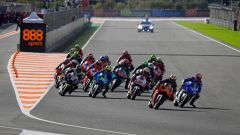 MotoGP, partenza del GP d'Europa 2020 a Valencia