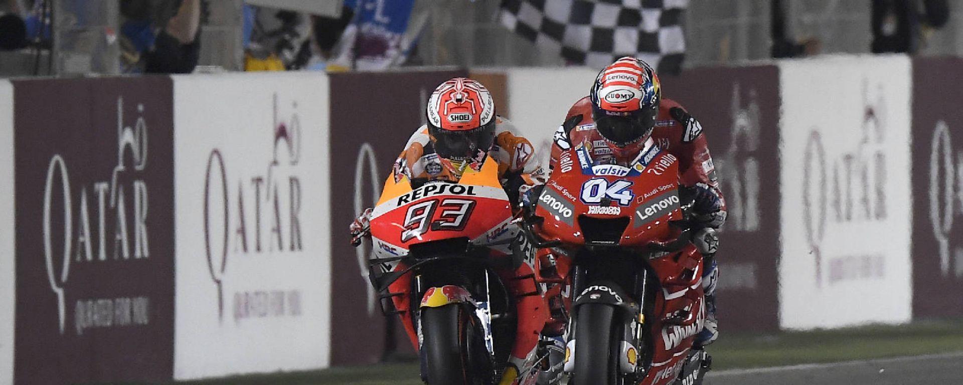 MotoGP Qatar 2019 - Dovizioso vince e beffa Marquez, Rossi 5°