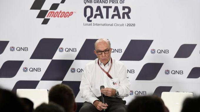 MotoGP Qatar 2020, Losail, Il CEO Dorna Carmelo Ezpeleta in conferenza stampa