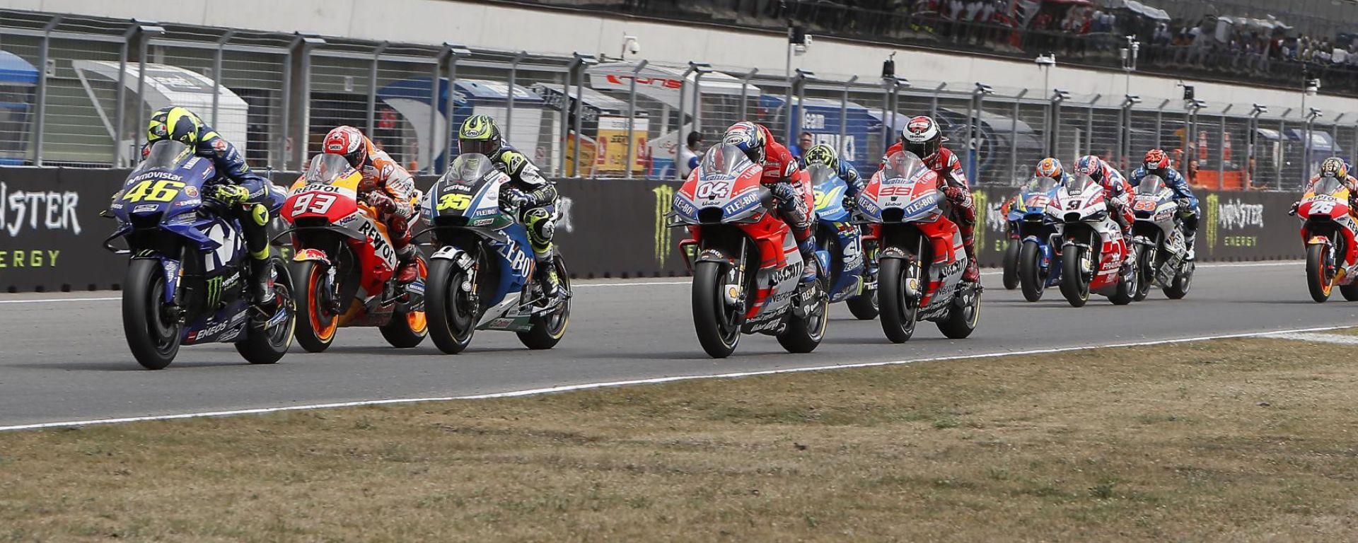 MotoGP Rep Ceca 2018, Brno, partenza