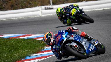 MotoGP Rep Ceca 2020, Brno: Alex Rins (Suzuki) e Valentino Rossi (Yamaha)