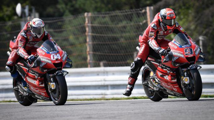 MotoGP Rep Ceca 2020, Brno: Andrea Dovizioso e Danilo Petrucci (Ducati)