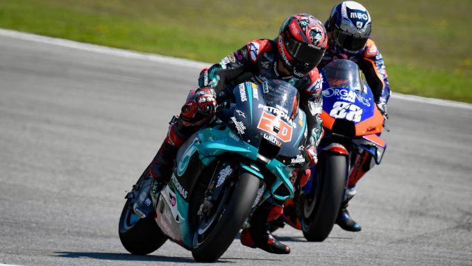 MotoGP Rep Ceca 2020, Brno: Fabio Quartararo (Yamaha) e Miguel Oliveira (KTM)