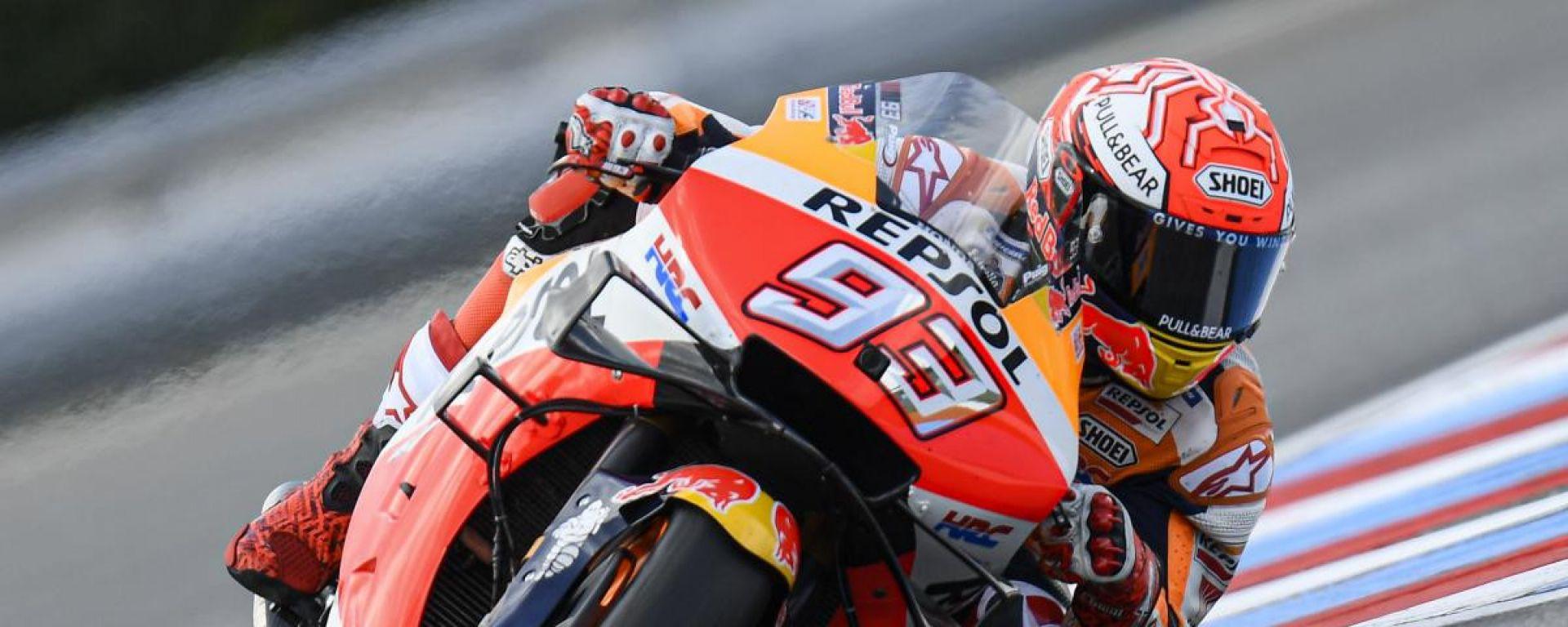 MotoGP Rep.Ceca, FP3: Marquez primo, sorprende Guintoli
