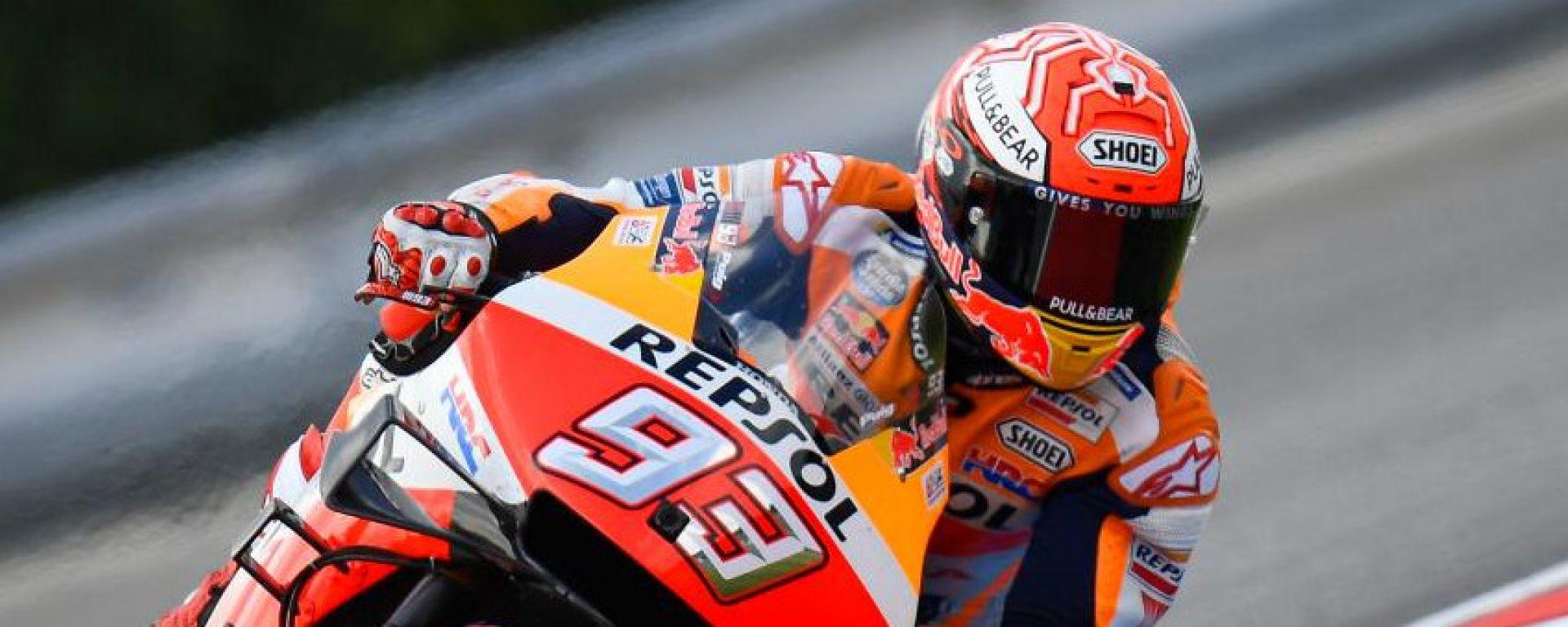 MotoGP Rep.Ceca, Qualifiche: straordinario Marquez in pole