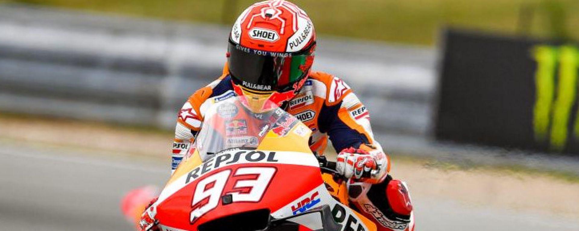 MotoGP Rep.Ceca, gara: stravince Marquez, Dovizioso 2°