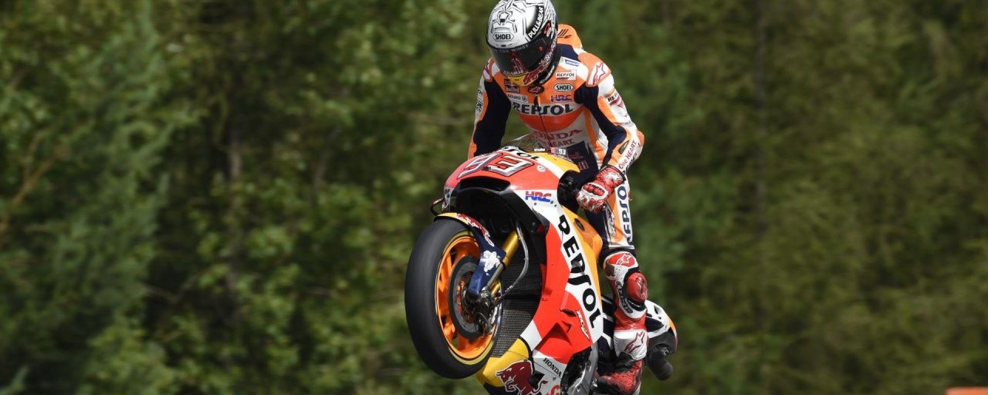 MotoGP Repubblica Ceca 2017: Marc Marquez in pole davanti a Valentino Rossi e Dani Pedrosa