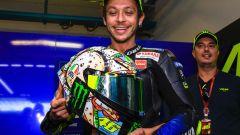 MotoGP San Marino 2019, il casco personalizzato di Valentino Rossi per Misano