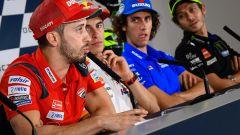MotoGP San Marino 2019, Misano Adriatico, Dovizioso (Ducati), Marquez (Honda), Rins (Suzuki), Rossi (Yamaha)