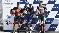 MotoGP San Marino 2019, Misano Adriatico, Maverick Vinales (Yamaha), Pol Espargaro (KTM), Fabio Quartararo (Yamaha)