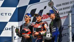 MotoGP San Marino 2019, Misano, Fabio Quartararo (Yamaha), Marc Marquez (Honda), Maverick Vinales (Yamaha)