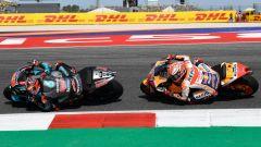 MotoGP San Marino 2019, Misano, Fabio Quartararo (Yamaha), Marc Marquez (Honda)