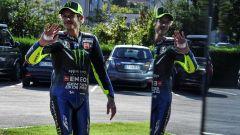 MotoGP San Marino 2019, Valentino Rossi da Tavullia a Misano sulla Yamaha M1