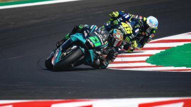 MotoGP San Marino 2020, Misano Adriatico: Franco Morbidelli e Valentino Rossi (Yamaha)