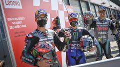 MotoGP San Marino 2020, Misano Adriatico: Franco Morbidelli, Maverick Vinales e Fabio Quartararo(Yamaha)