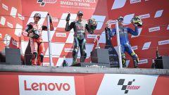 MotoGP San Marino 2020, Misano Adriatico: Morbidelli e Bagnaia sul podio con Mir
