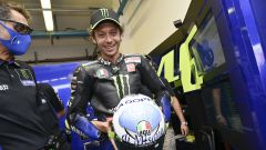 MotoGP San Marino 2020 Valentino Rossi (Yamaha) con il casco al