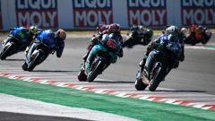 MotoGP San Marino 2020, Vinales davanti a Quartararo, Rins e Mir nelle prime fasi di gara