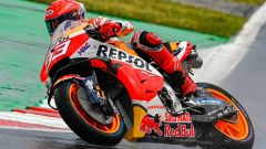 GP Americhe 2021, Marc Marquez è il migliore nelle FP1 bagnate