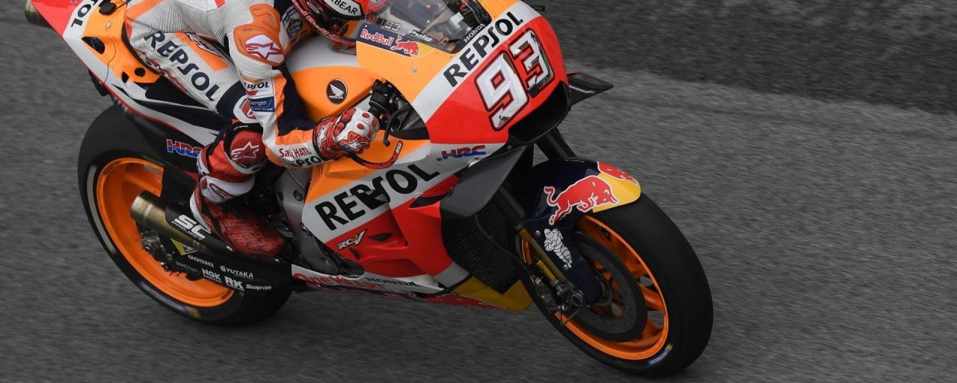 MotoGP Sepang 2018: Marquez penalizzato per aver ostacolato Iannone