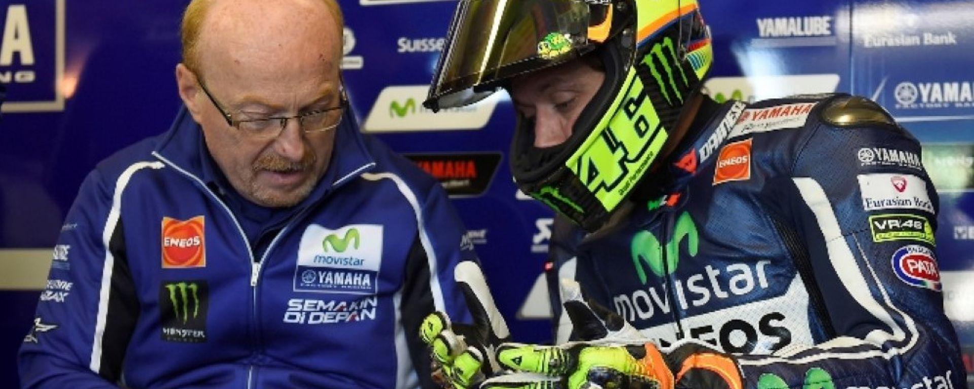 MotoGP: Silvano Galbusera e Valentino Rossi (Yamaha)