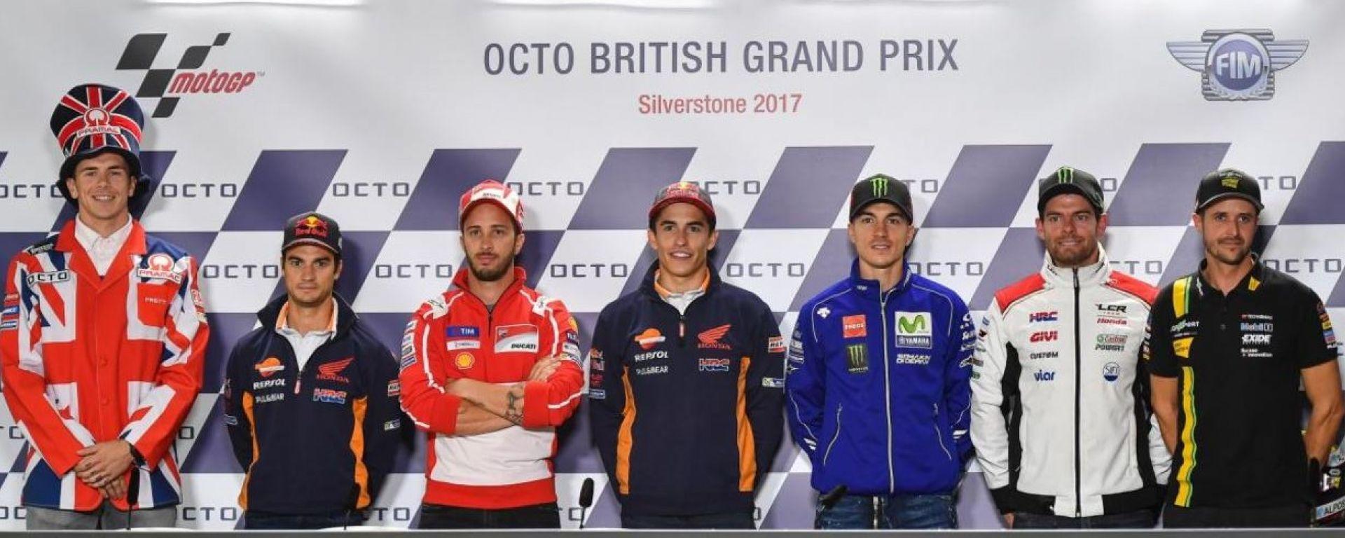 MotoGP Silverstone 2017, conferenza stampa