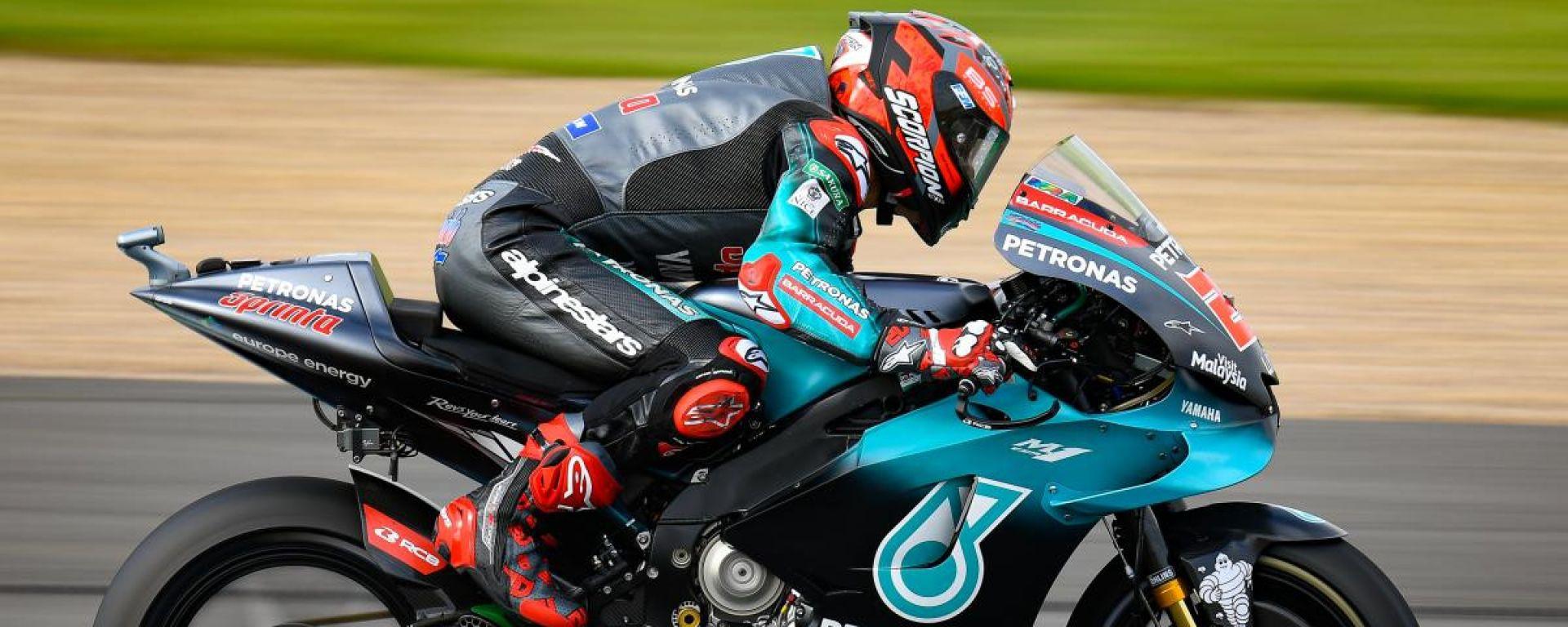 MotoGP Silverstone, FP3: Quartararo 1° davanti a Rossi