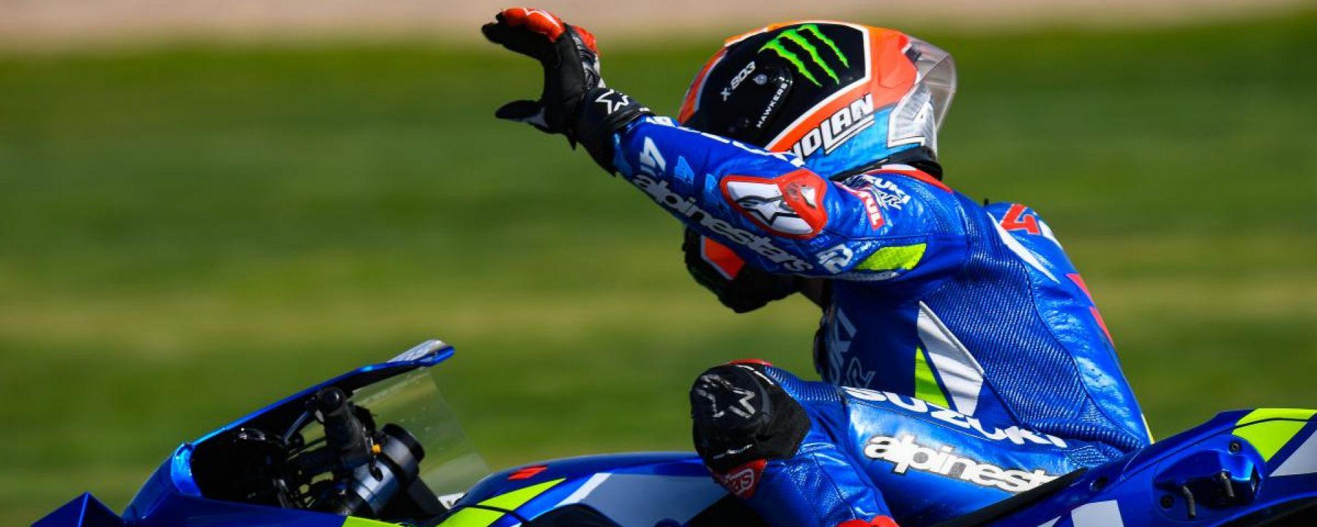 """MotoGP Silverstone, Rins: """"Sono senza parole"""""""
