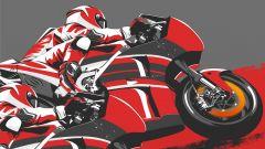 MotoGP sorpasso Ducati su Ducati poster Brembo
