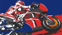 MotoGP sorpasso Ducati-Yamaha poster