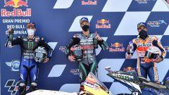 MotoGP Spagna 2020, Jerez - Maverick Vinales e Fabio Quartararo (Yamaha), Marc Marquez (Honda)