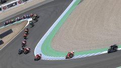 MotoGP Spagna 2020, Jerez - prime curve del GP