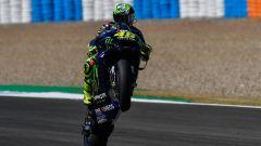 MotoGP Spagna 2020, Jerez: Valentino Rossi (Yamaha) impegnato nel day-1 dei test pre-GP
