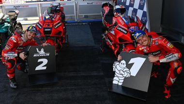 MotoGP Spagna 2021, Jerez: Francesco Bagnaia e Jack Miller (Ducati)