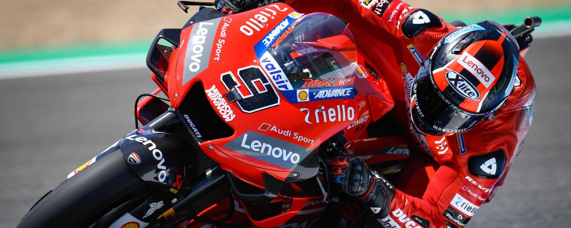 MotoGP Spagna: è ancora Petrucci nelle FP3, Rossi fuori per un pelo
