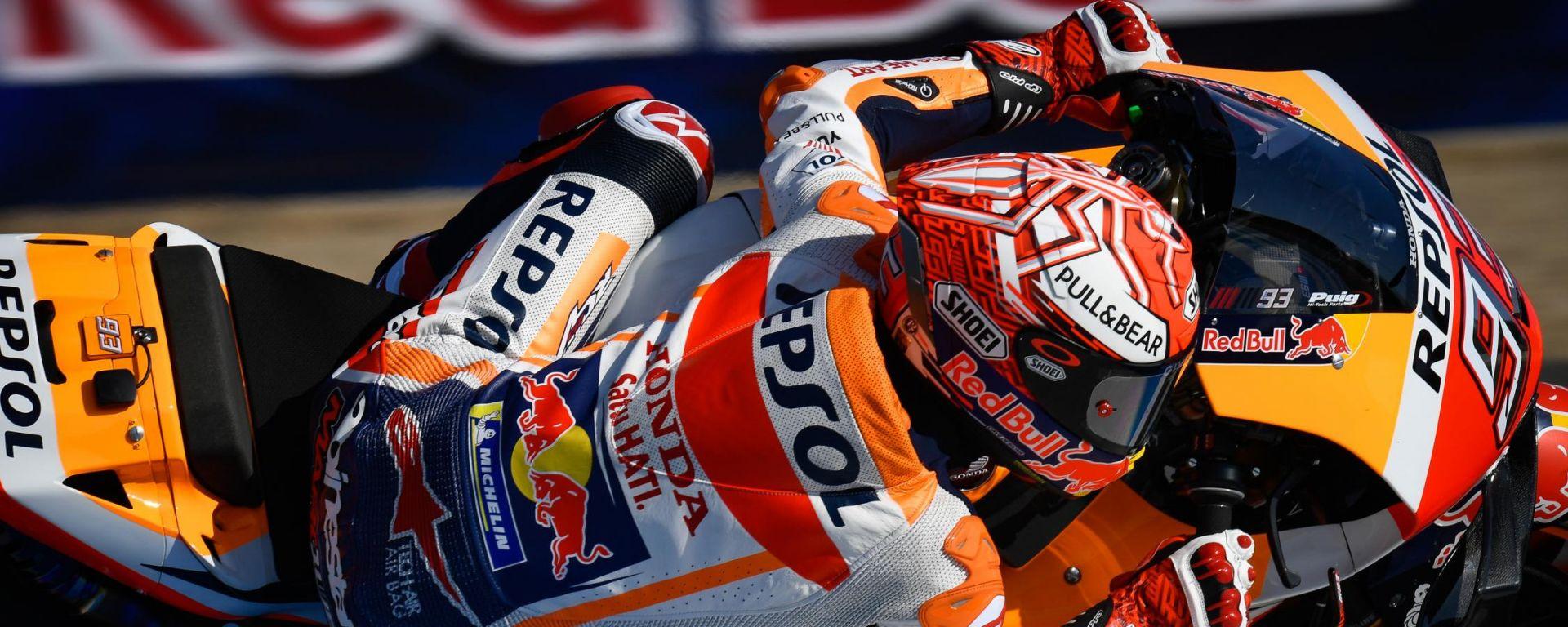 MotoGP Spagna: tris iberico nelle FP1, guida Marquez, Rossi attardato